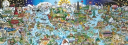 Andrews + Blaine Charles Fazzino We are the World Panoramic Jigsaw Puzzle
