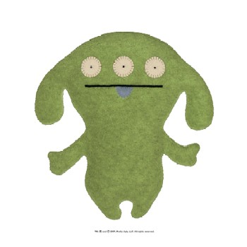 "Peaco Green - 7"" Little Ugly by Uglydoll"