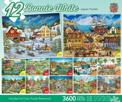Masterpieces Bonnie White Jigsaw Puzzle Bundle