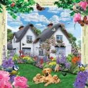 Masterpieces Delphinium Cottage Jigsaw Puzzle