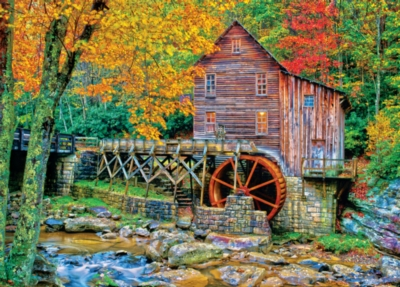 Masterpieces Glade Creek Grist Mill Jigsaw Puzzle