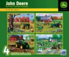 John Deere 4-Pack - 4x 500pc Jigsaw Puzzle by Masterpieces