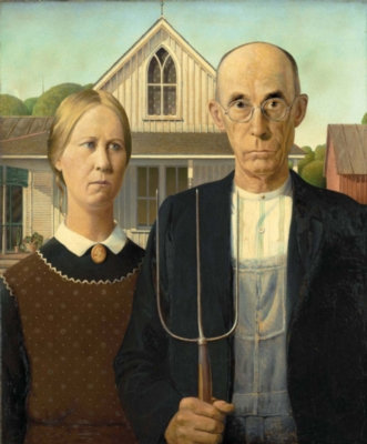 Puzzles Michele Wilson American Gothic Handcrafted Jigsaw Puzzle