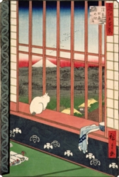 Puzzles Michele Wilson Chat devant les rizi�res - HIROSHIGE Handcrafted Jigsaw Puzzle
