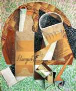 Puzzles Michele Wilson La bouteille de Banyuls - Gris Handcrafted Jigsaw Puzzle