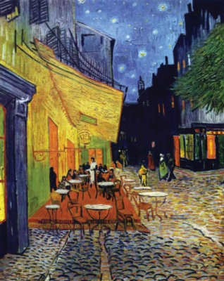 Puzzles Michele Wilson Le cafe le soir - VAN GOGH Handcrafted Wood Jigsaw Puzzle