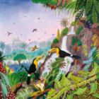 Toucans � Car�ne - THOMAS - 350pc Handcrafted Jigsaw Puzzle by Puzzles Michele Wilson