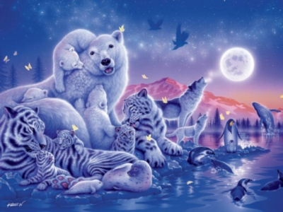 Ceaco Aqua Shimmer Song of the Moon Jigsaw Puzzle