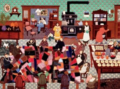 Ceaco Arlette Gosieski Crazy Quilt Bee Jigsaw Puzzle