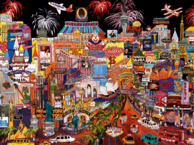 Ceaco City Lights Jigsaw Puzzle | Las Vegas