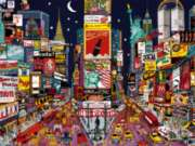Ceaco City Lights Jigsaw Puzzle | New York City - Red, White, & Blue