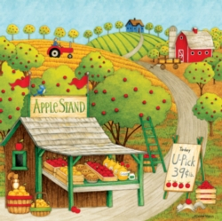 Ceaco Debbie Mumm Apple Stand Jigsaw Puzzle