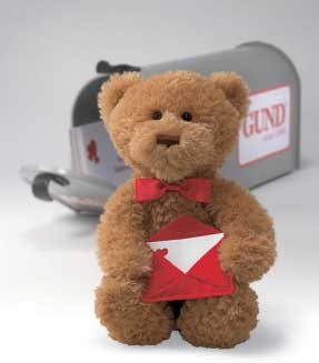"""I Am Yours Valentine (Sing and Move) - 11"""" Bear by Gund"""