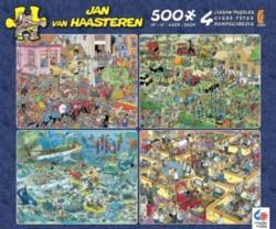 Ceaco Jan Van Haasteren 4 in 1 Jigsaw Puzzle Multipack