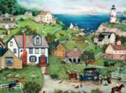 Ceaco Linda Nelson Stocks Peddler's Cove Jigsaw Puzzle