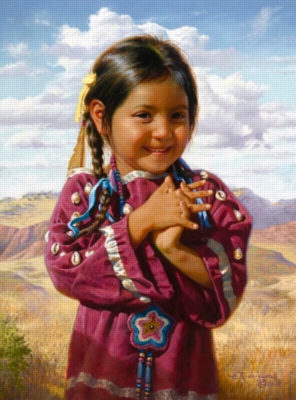 Ceaco Native Portraits Jigsaw Puzzle | Pleased as Punch