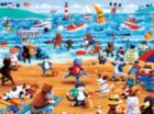 Paws & Claws: Beach Cats - 300pc Oversized Jigsaw Puzzle by Ceaco
