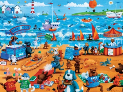Ceaco Dogs and Cats Oversized Jigsaw Puzzle