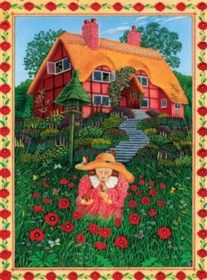 Ceaco Peter Church Poppy Garden JIgsaw Puzzle