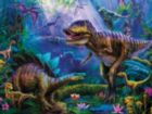 Prehistoria: Dino Jungles - 300pc Oversized Jigsaw Puzzle by Ceaco