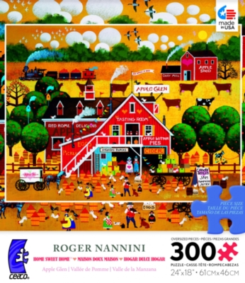 Ceaco Roger Nannini Apple Glen Oversized Jigsaw Puzzle