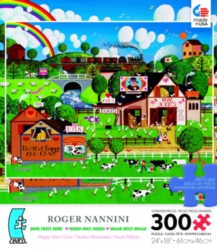 Ceaco Roger Nannini Happy Moo Cows Oversized Jigsaw Puzzle