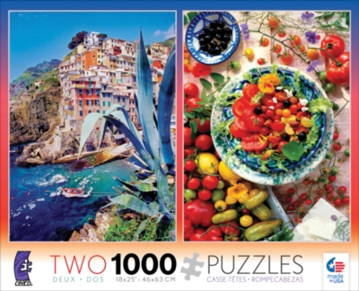 Ceaco Seacost & Tomato 2 in 1 Multi-Pack Jigsaw Puzzle