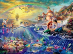 Ceaco Thomas Kinkade The Little Mermaid Jigsaw Puzzle