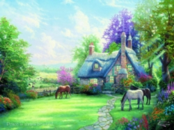 Ceaco Thomas Kinkade A Perfect Summer Day Oversized Jigsaw Puzzle