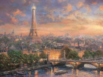 Ceaco Thomas Kinkade Paris, City of Love Jigsaw Puzzle