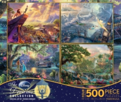 Ceaco Thomas Kinkade, Series 1, 4 in 1 Disney Dreams Jigsaw Puzzle Multipack
