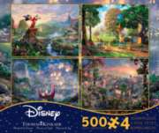 Thomas Kinkade: 4 in 1 Disney Dreams Collection - Series 2 Multi-Pack - 500pc Jigsaw Puzzle by Ceaco