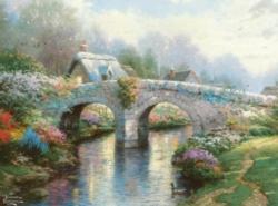 Ceaco Thomas Kinkade Blossom Bridge Jigsaw Puzzle
