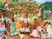 Ceaco Tuula Burger Courtyard Wash Jigsaw Puzzle