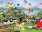 Tuula: Windy Day Kites - 750pc Jigsaw Puzzle by Ceaco