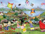 Ceaco Tuula Burger Windy Day Kites Jigsaw Puzzle