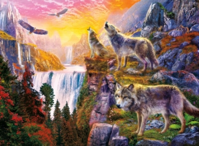 Ceaco Wolves Jigsaw Puzzle | Wolves in the Sun