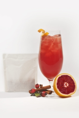 Two Leaves Tea: Blood Orange - Box of 24 1oz. Iced Tea Filter Bags