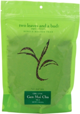 Two Leaves Tea: Organic Gen Mai Cha - 1/4 lb. Loose Tea in a Resealable Sleeve