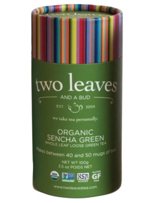 Two Leaves Tea: Organic Sencha Green - Loose Tea in a Cylinder