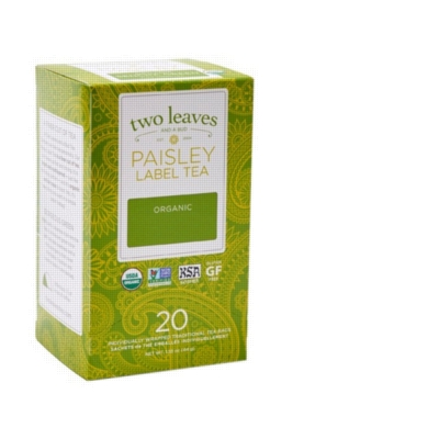Two Leaves Tea - Box of 20 Paisley Label Tea Bags