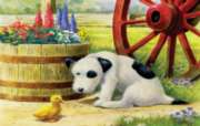 Pup and Friend - 100pc Large Format Jigsaw Puzzle by SunsOut