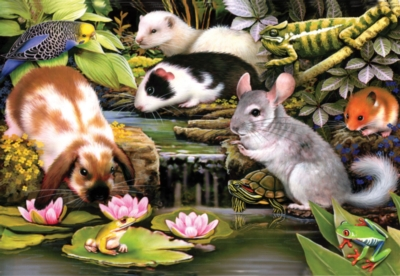 Poolside Pets - 100pc Jigsaw Puzzle by SunsOut