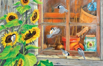 Sunflower Shed - 100pc Mini Jigsaw Puzzle by SunsOut