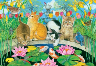 Fish Pond Pals - 200pc Jigsaw Puzzle by SunsOut
