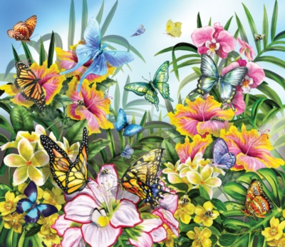 Butterflies in the Garden - 200pc Jigsaw Puzzle by SunsOut