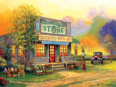 The Ole Country Store - 300pc Large Format Jigsaw Puzzle by SunsOut