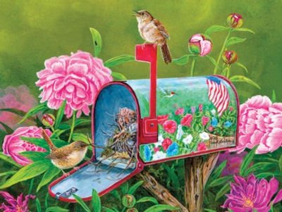Golden Glory Wrens - 500pc Jigsaw Puzzle by SunsOut
