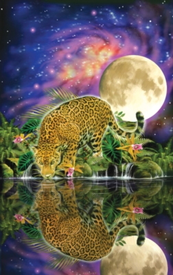 Leopard Moon - 550pc Jigsaw Puzzle by SunsOut
