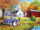 Family Time by the River - 300pc Large Format Jigsaw Puzzle by SunsOut